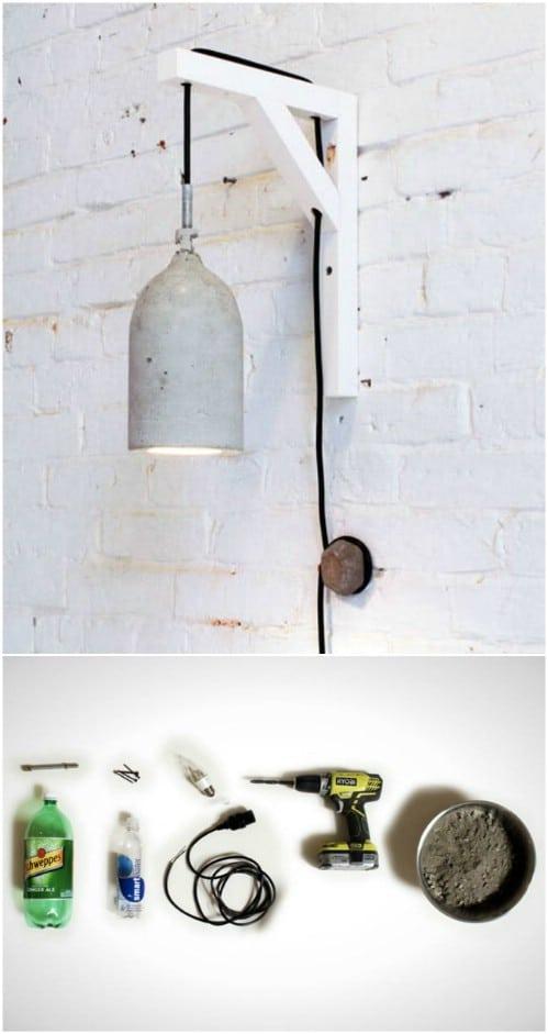 Upcycled Plastic Bottle Pendant Lamp