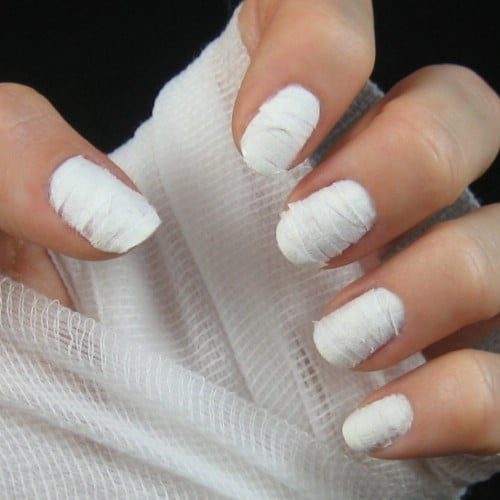 DIY Tissue Mummy Nails