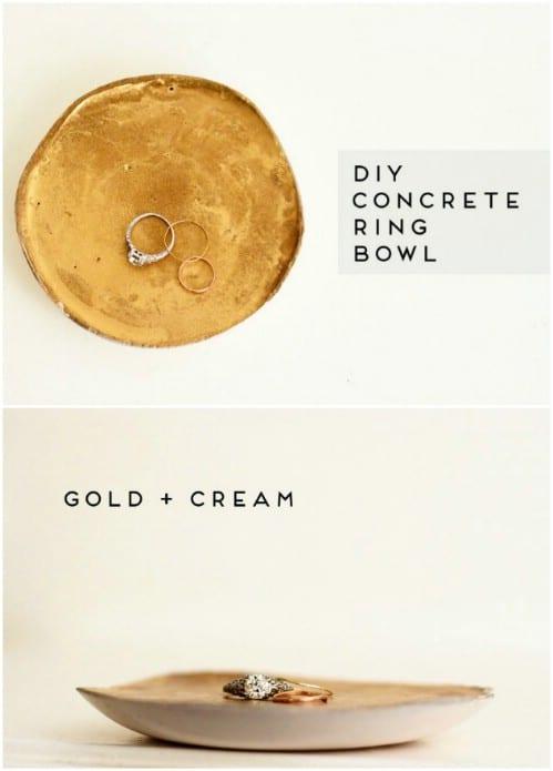 Elegant DIY Concrete Ring Bowl