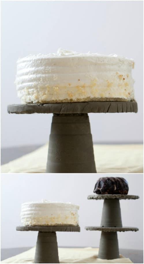 Elegant Concrete Cake Stand