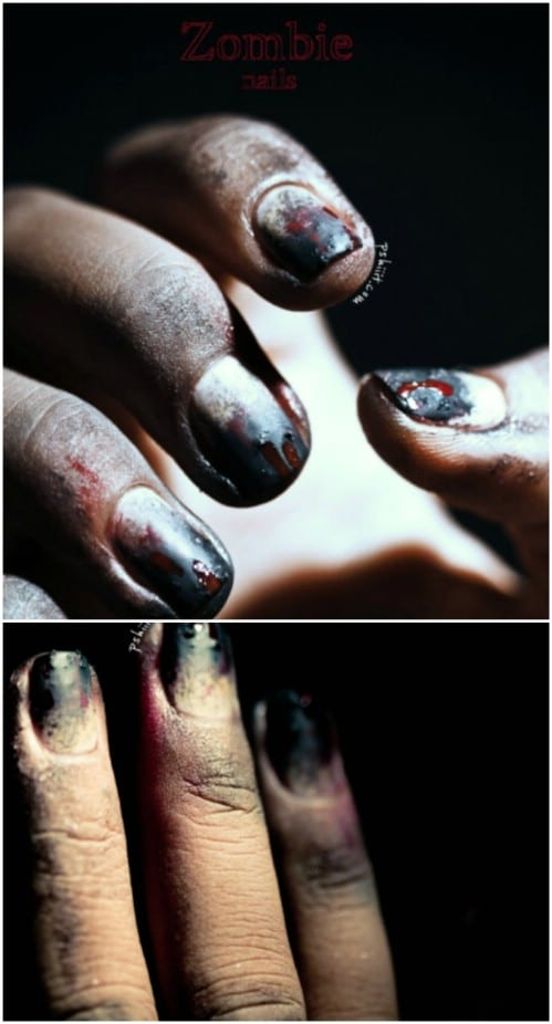 Creepy DIY Zombie Nails