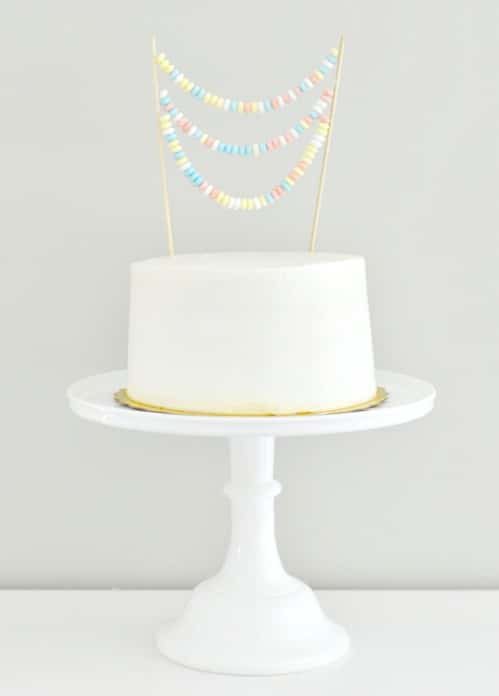 Plain Cake With Candy Necklace Banner