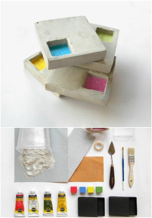 Easy Concrete Coasters