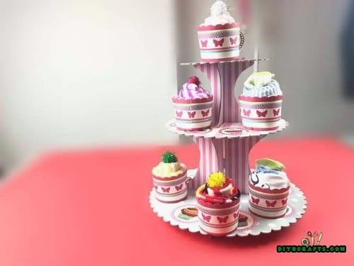 """Set the """"cupcakes"""" on a cupcake tray for the perfect presentation."""