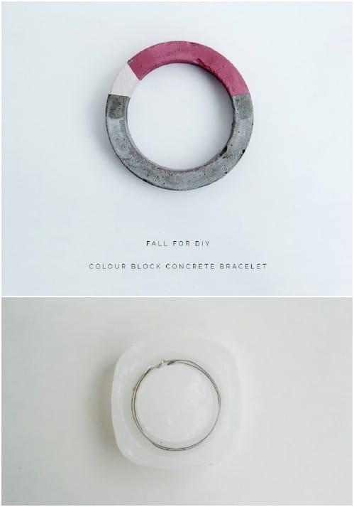 Gorgeous DIY Concrete Bracelets
