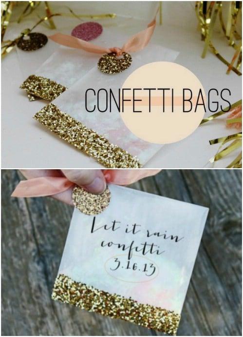 DIY Glitter Confetti Bags