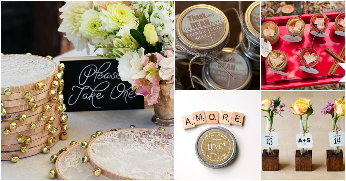 Diy Wedding Gift Ideas For Guests: 40 Frugal DIY Wedding Favors Your Guests Will Actually