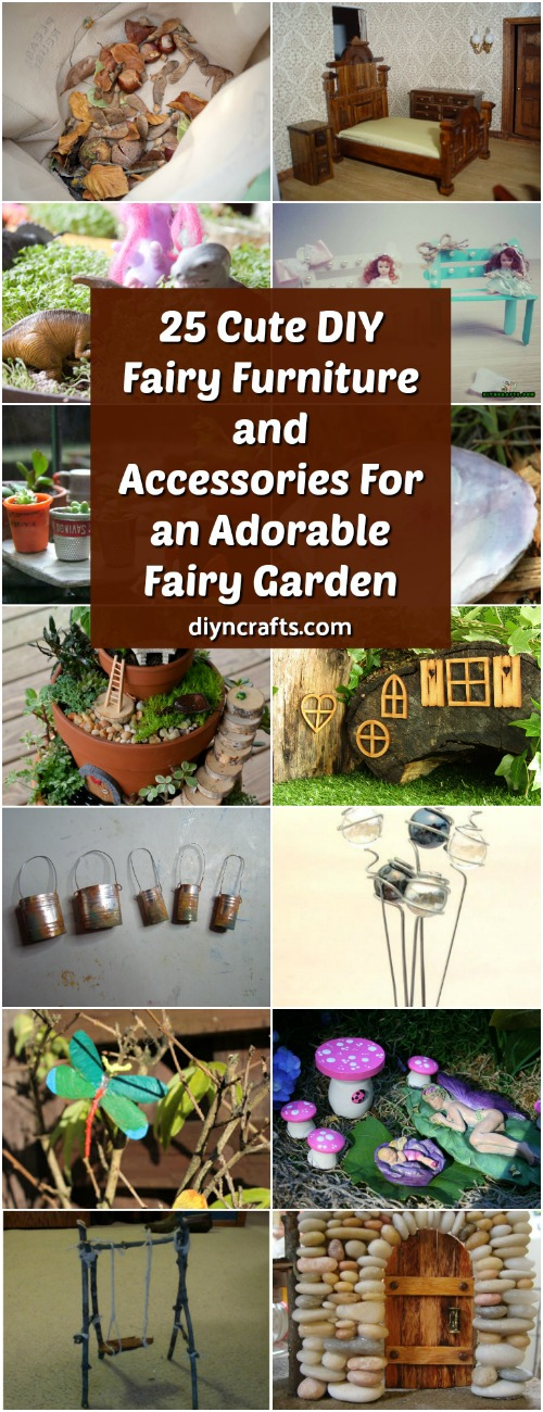 25 cute diy fairy furniture and accessories for an adorable fairy garden - Fairy Garden Accessories