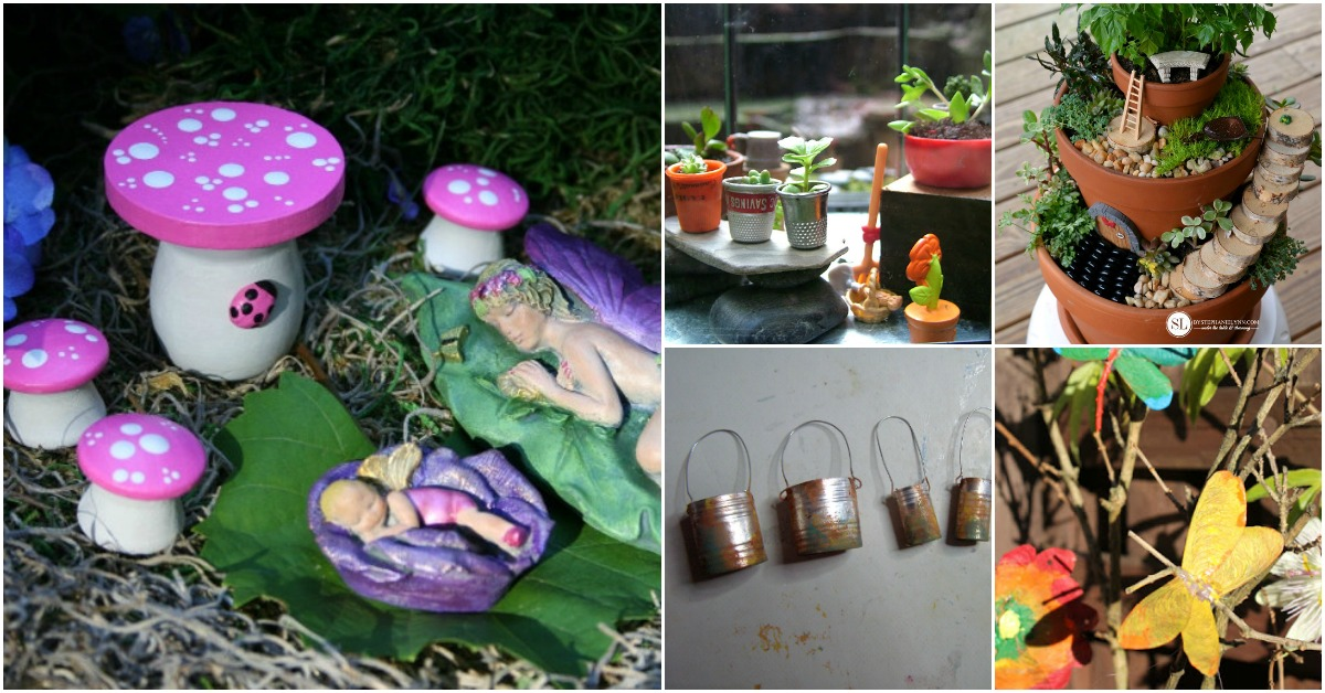 25 cute diy fairy furniture and accessories for an for Homemade garden decor crafts