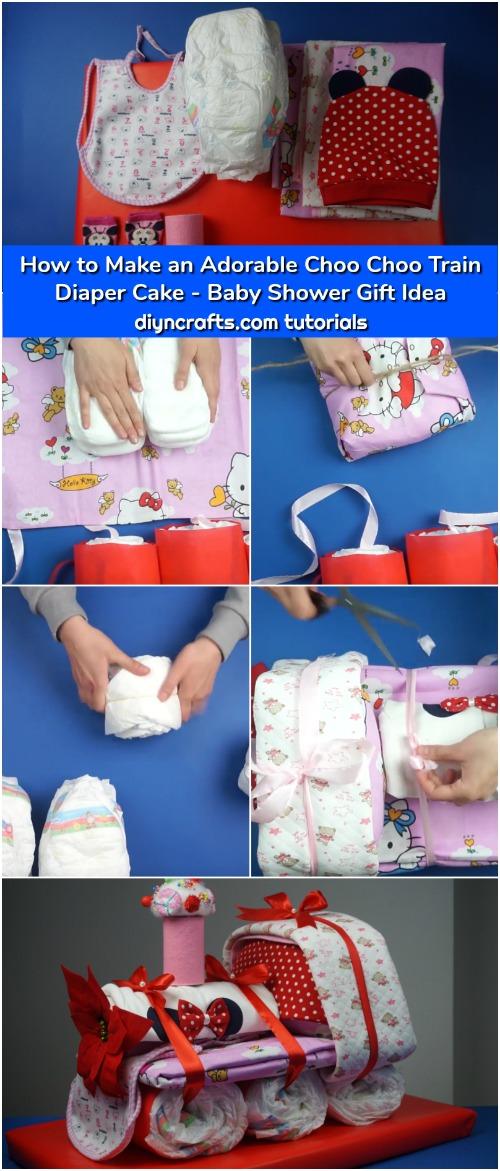 How To Make An Adorable Choo Choo Train Diaper Cake Baby