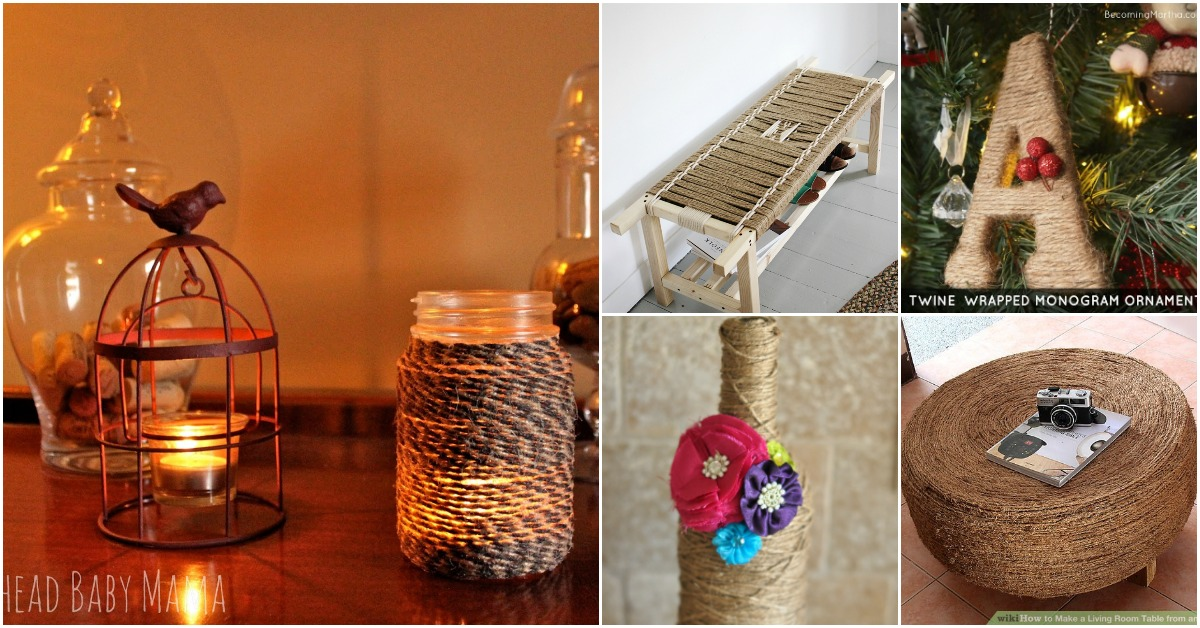 40 Rustic Home Decor Ideas You Can Build Yourself: 40 Rustic DIY Twine Projects To Decorate Your Home And