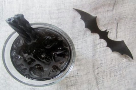 Bat Juice Halloween Mock Cocktail