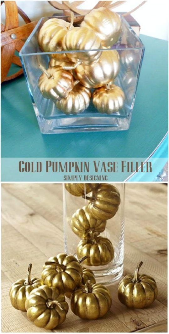 Gold Pumpkin Vase – Pottery Barn Knockoff