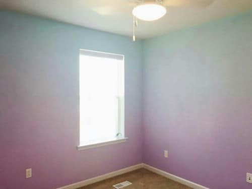 Soft pastel gradients make for lovely walls.