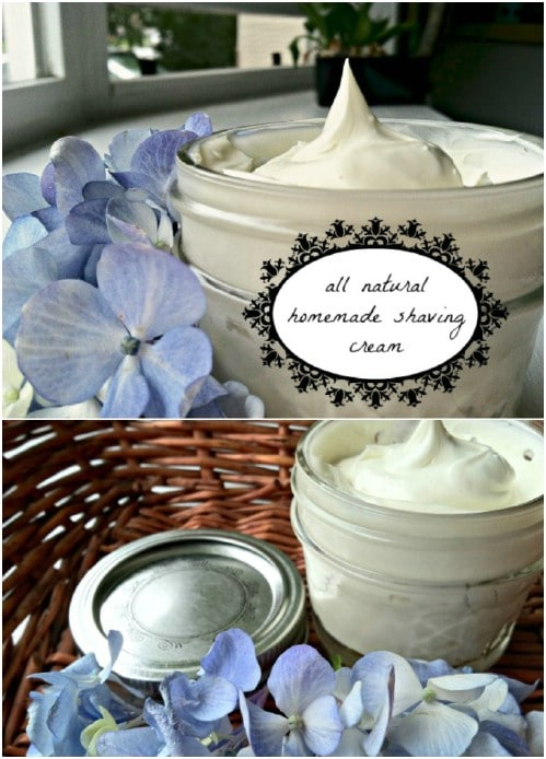 DIY Coconut Oil Shaving Cream