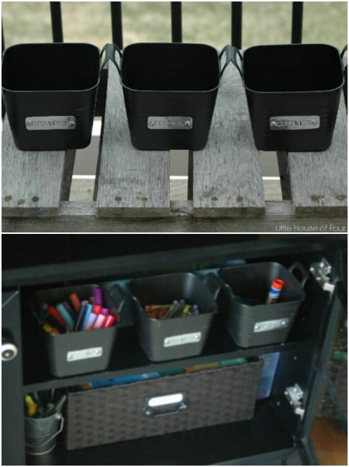 Stamp your bins with metal labels.