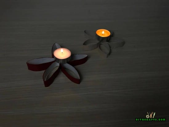 Candle Holder - 4 Fun and Decorative Paper Roll Crafts You Can Make in 3 Minutes