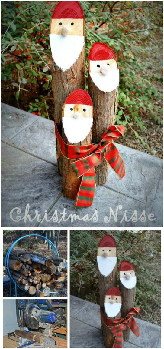 15 Beautiful DIY Recycled Wood Christmas Decorations