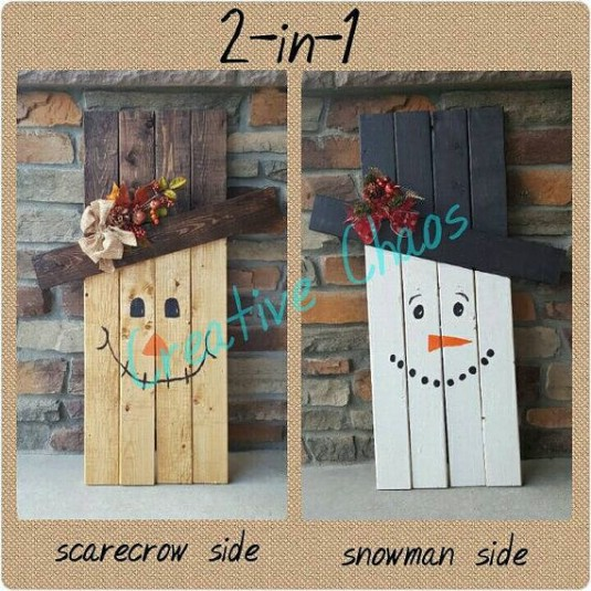Reversible Halloween Wooden Porch Decoration - 25 Fantastic Reclaimed Wood Halloween Decorations For Your Home And Garden