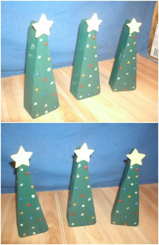 Reclaimed Wood Tabletop Christmas Trees