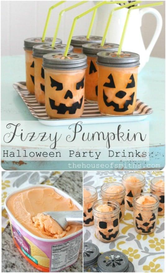 Fun Fizzy Pumpkin Halloween Drink