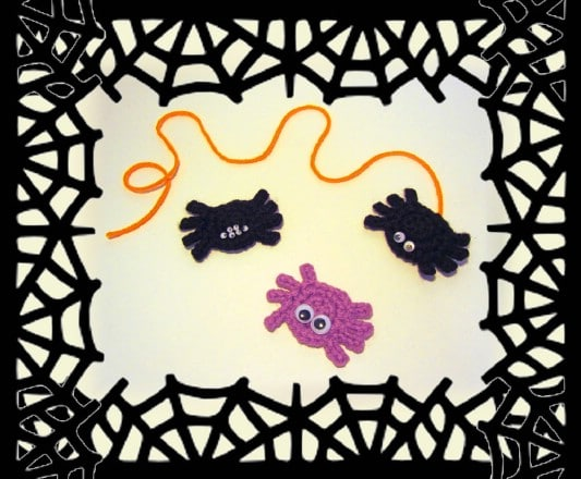 Super Easy Crocheted Spiders