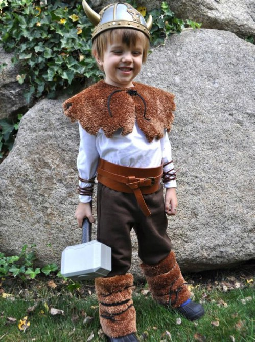 Recycled Carpet Viking Costume