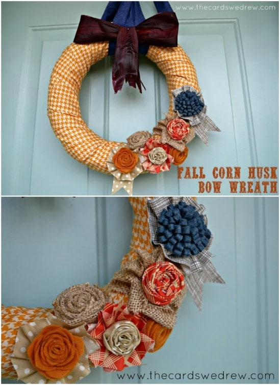 Corn Husk Bow Wreath