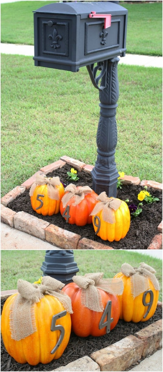 20 DIY Outdoor Fall Decorations That'll Beautify Your Lawn ... on Easy Diy Garden Decor id=82032
