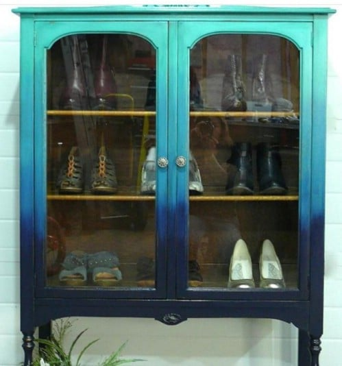 You can also paint a glass display cabinet.