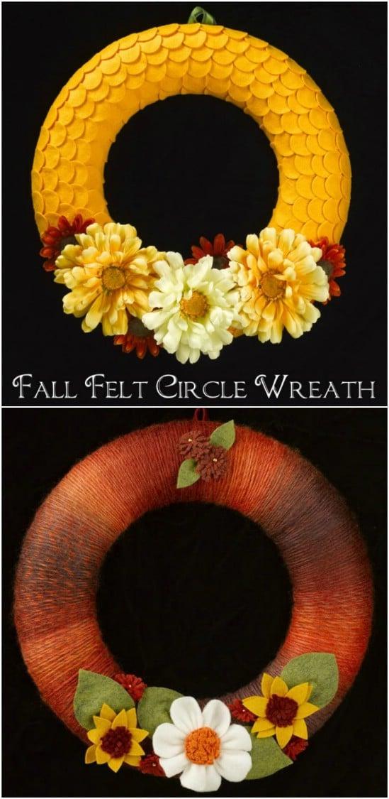 Easy DIY Fall Felt Circle Wreath