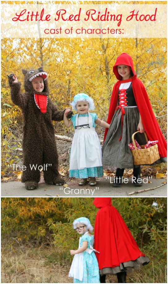 how to make a homemade red riding hood costume