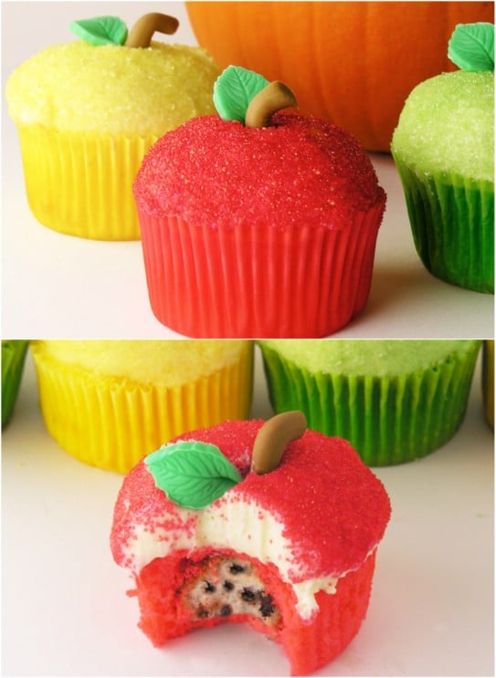 Sparkly Apple Cupcakes
