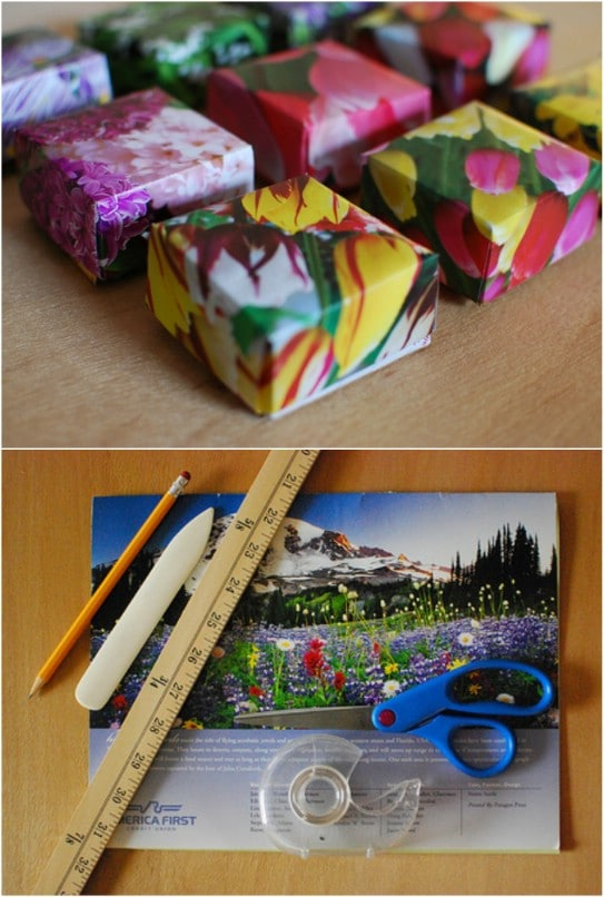 Decorative Recycled Calendar Boxes