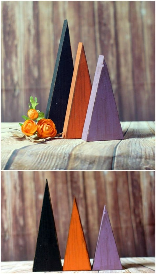 Primitive Halloween Trees - 25 Fantastic Reclaimed Wood Halloween Decorations For Your Home And Garden