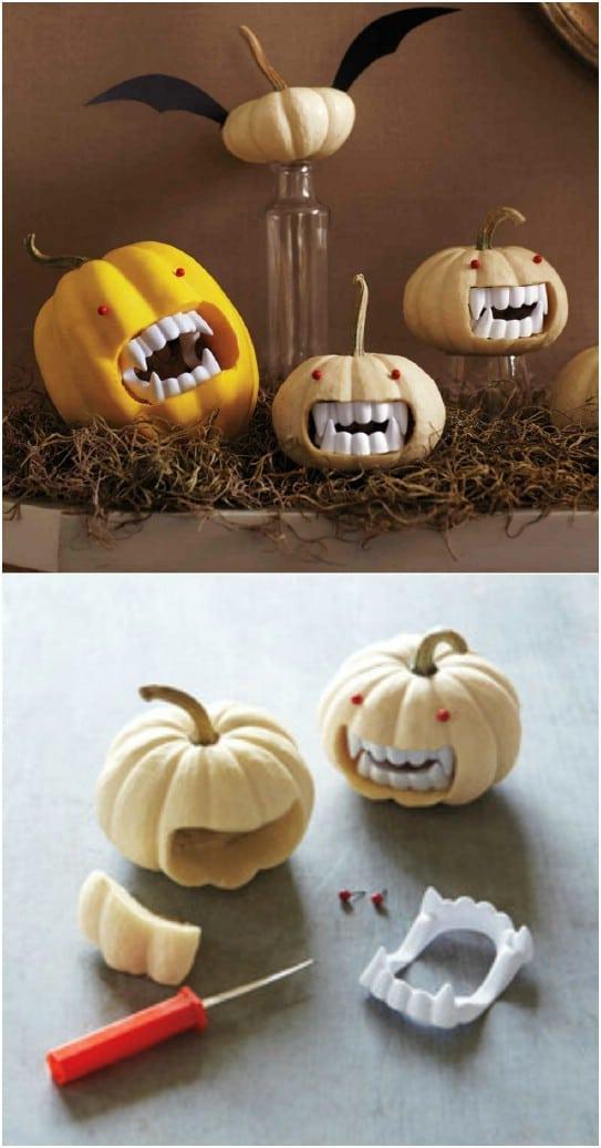 Fanged Mini Vampire Pumpkins
