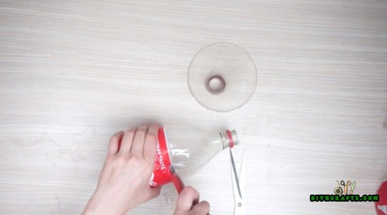 Candle Holder - 5 Creative DIY Projects for Upcycling Your Plastic Bottles {Video Tutorial}