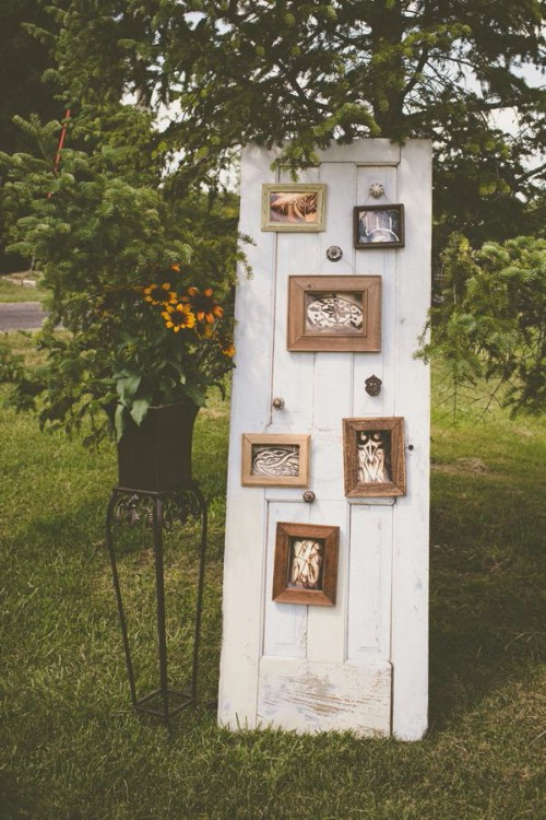 Repurposed Door Wedding Photo Display