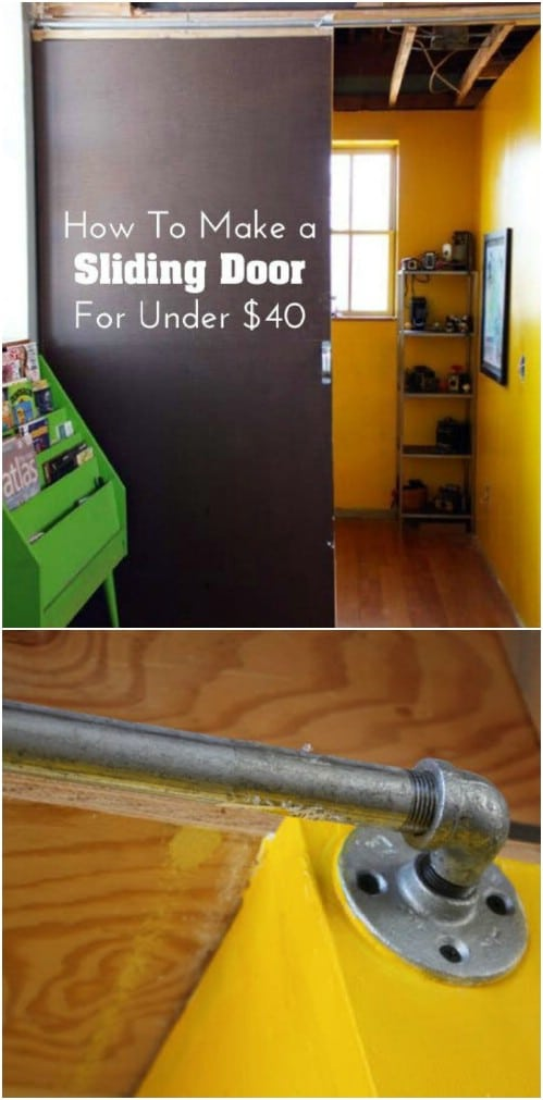 Make This Sliding Door For Less Than $40