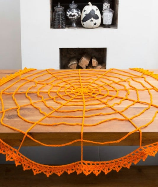 Crochet Spider Web Table Topper