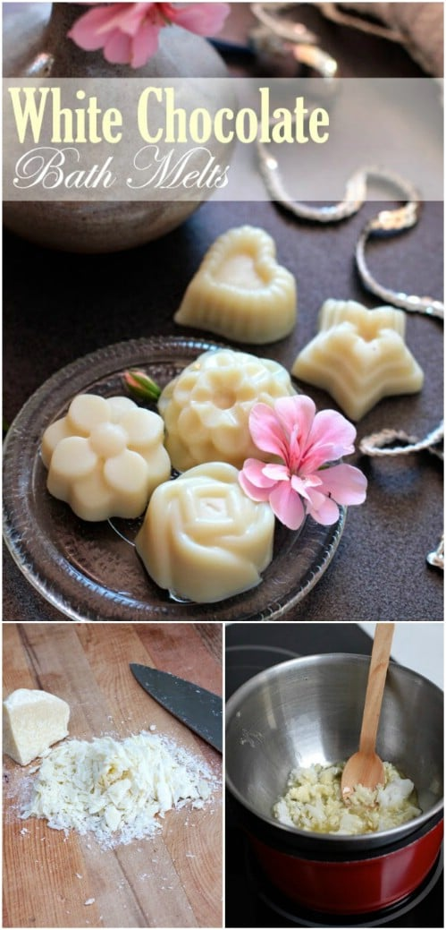 Homemade White Chocolate Coconut Bath Melts