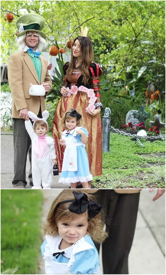 Top 35 most creative themed diy halloween costumes for the entire easy diy alice in wonderland costumes solutioingenieria Image collections