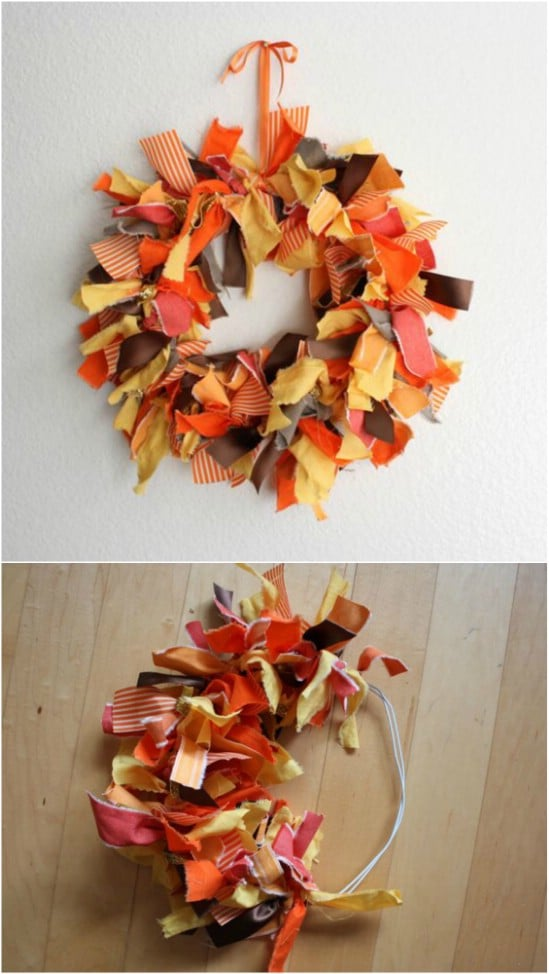 DIY Autumn Fabric Wreath