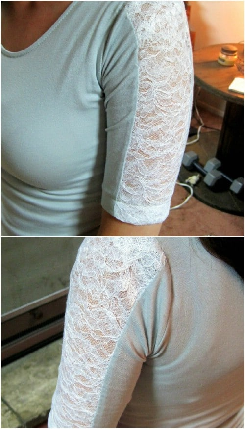 Add lace panels to your sleeves.