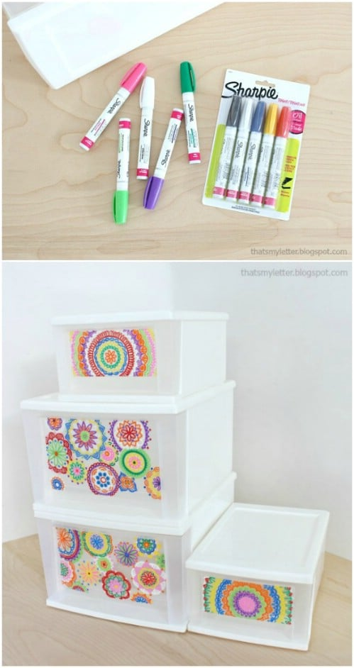 Make unbelievably gorgeous designs with sharpie markers.