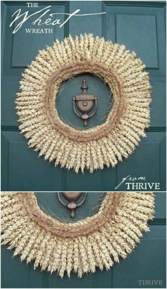 DIY Harvest Wheat Wreath
