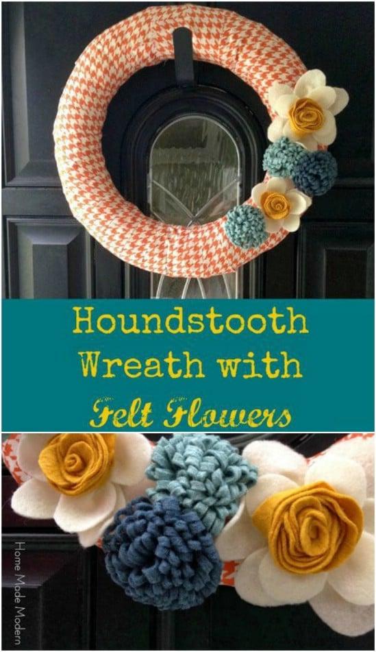 DIY Fall Houndstooth Wreath