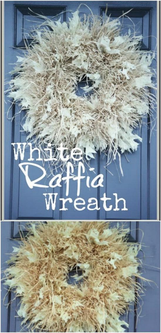 Easy Fall Raffia Wreath