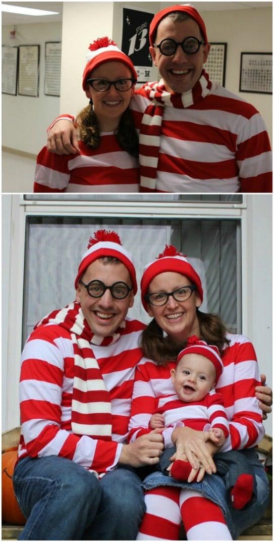 Cute Where's Waldo Family Costumes
