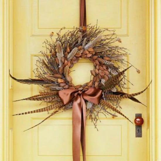 DIY Pheasant Feather Wreath